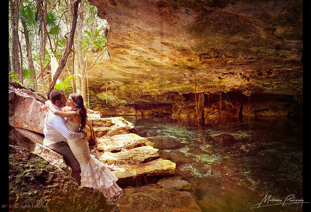 Grooms sesion in a Trash the dress from a Playa del Carmen wedding