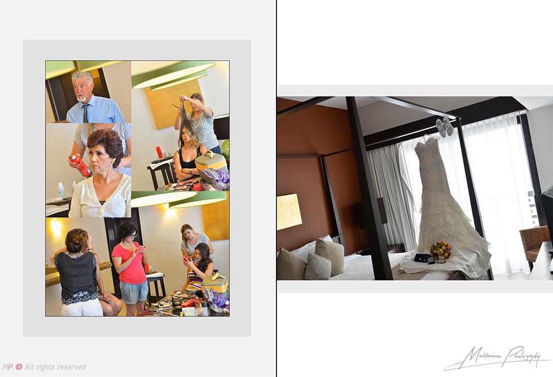 Sesión de fotos Preparativos de bodas en Playa del Carmen