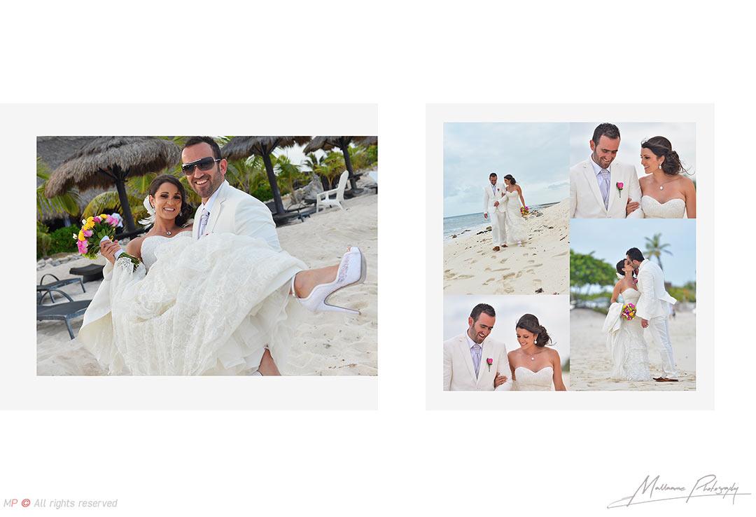 sesión fotográfica de novios en bodas de Playa del Carmen
