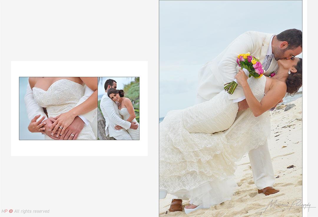 Sesión con novios en la playa - fotografia de bodas en Playa del Carmen