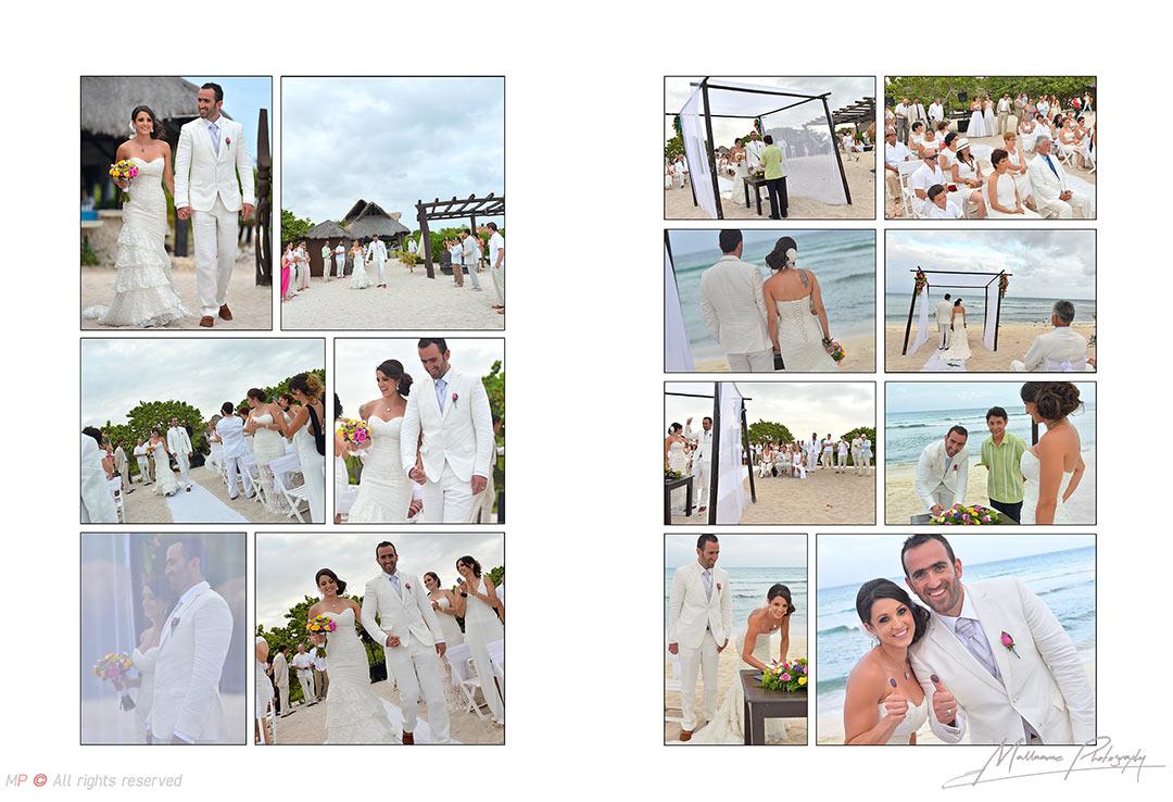 beach wedding from a Playa del Carmen wedding photographer