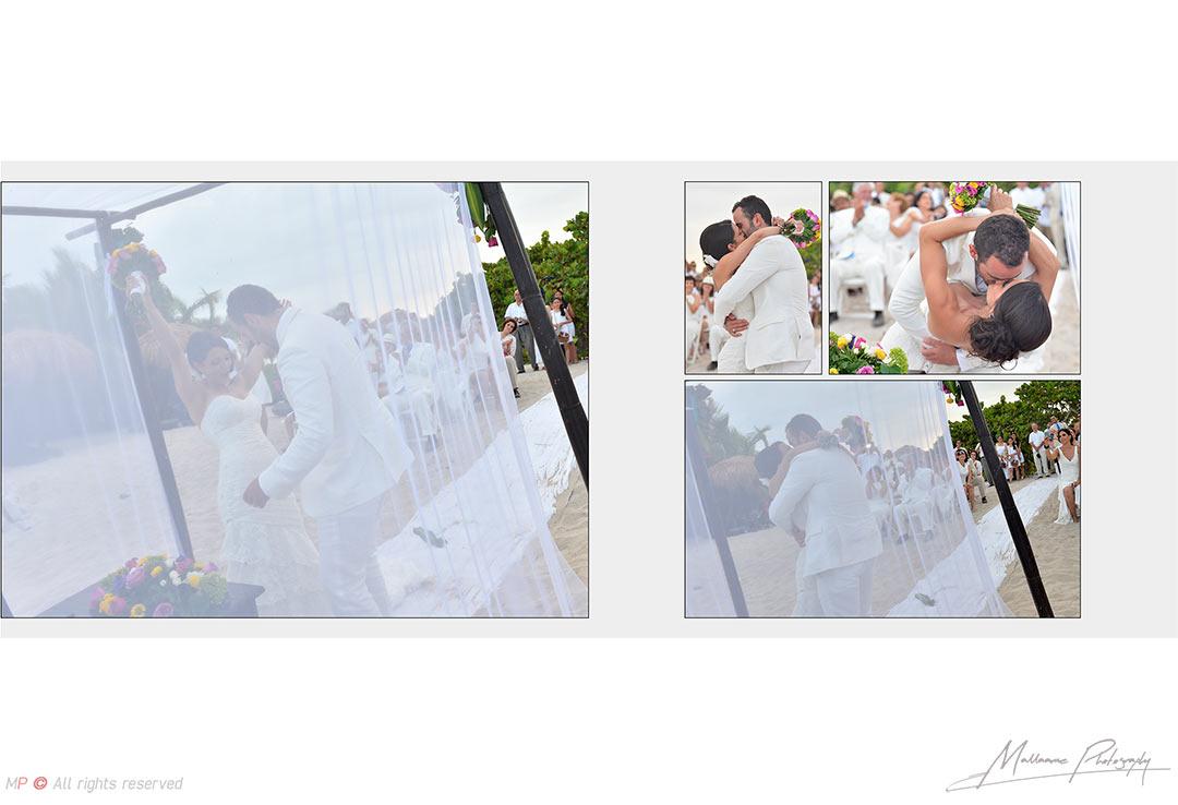 Grooms celebration in a beach Playa del Carmen wedding