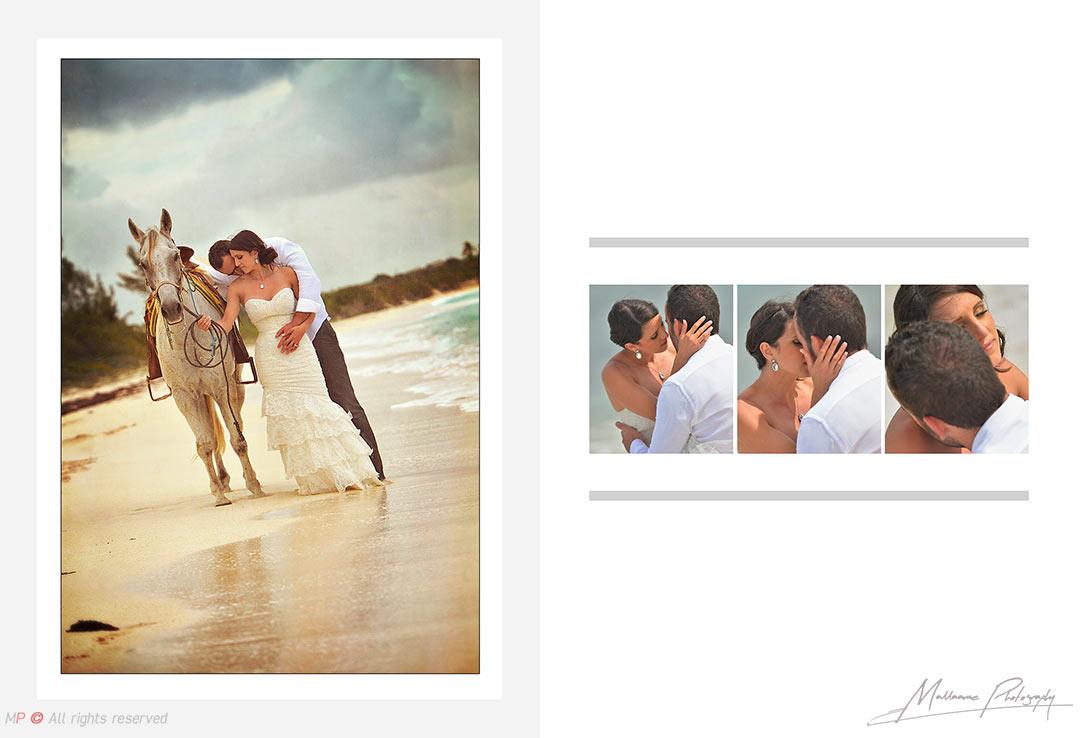Novios en sensual sesión de bodas en Playa del Carmen