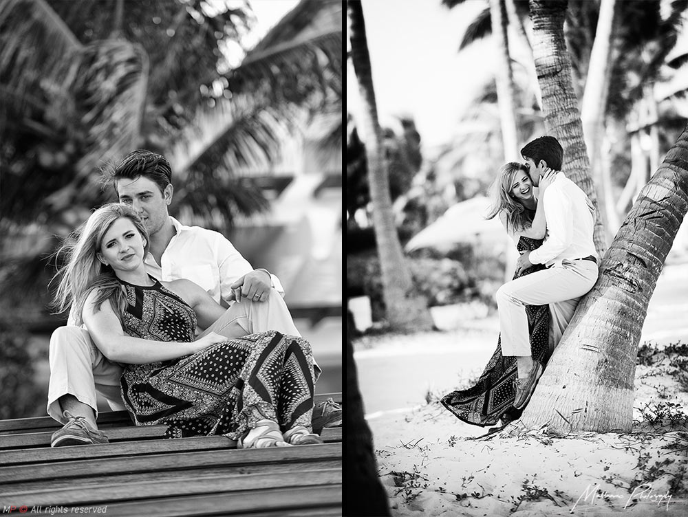 nice engagement photography in Grand Velas of Playa del Carmen