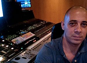sesión de grabación en estudio