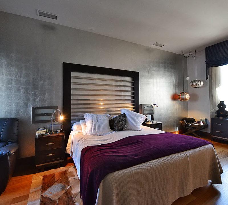 dormitorio de acabados moderno en fotografia de interior